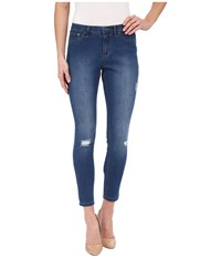 Hue Ripped Denim Skimmer Moody Blue Wash Women's Jeans