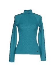Versace Collection Turtlenecks Turquoise