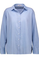 J Brand Atlantic Cotton Poplin Shirt Light Blue