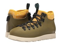 Native Fitzsimmons Rookie Green Honey Yellow Bone White Anthill Camo Shoes