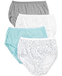 Hanes Platinum Cotton Brief 4 Pack 40C4b1 Blue Grey Assorted