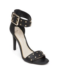 Jessica Simpson Elonna Leather Stilettos Black