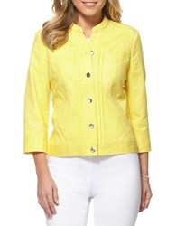 Rafaella Ashley Pintuck Jacket Snapdragon