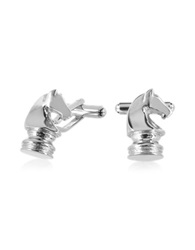 Forzieri Old Style Knight Chess Cufflinks Silver