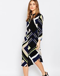 Warehouse Multi Stripe Shirt Dress Multi