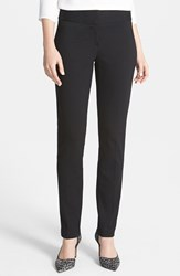 Petite Women's Vince Camuto Ponte Knit Ankle Pants Black