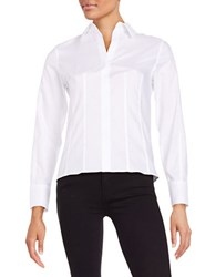 Calvin Klein Oxford Button Down Blouse White