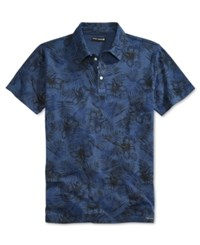 Ocean Current Men's Machina Botanical Print Polo Blue