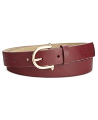 Styleandco. Style Co. Skinny Knob Buckle Pants Belt Only At Macy's Wine