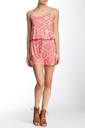 Romeo And Juliet Couture Printed Romper Pink