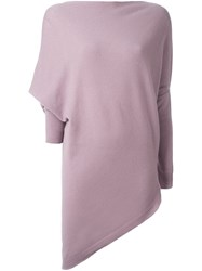 Ralph Lauren Batwing Sleeve Long Length Sweater Pink And Purple