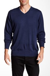 Robert Graham Nolan V Neck Sweater Blue
