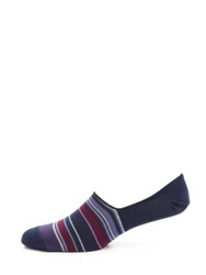 Paul Smith Albermarle Striped Loafer Socks Purple Navy Blue Brown