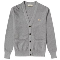 Maison Kitsune Merino Fancy Cardigan Grey