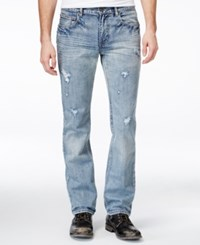 Inc International Concepts Men's Wycoff Slim Fit Jeans Only At Macy's Light Wash
