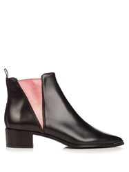 Acne Studios Jensen Leather Boots Black Pink
