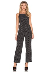 Minkpink Beautiful Mess Low Back Jumpsuit Black And White