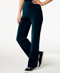 Styleandco. Style And Co. Sport Petite Embellished Pockets Velour Sweatpants Only At Macy's Evergreen