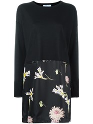 Blumarine Floral Print Shift Dress Black