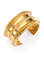 A Peace Treaty Remi Spiked Cuff Bracelet Gold
