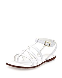 Bernardo Madison Leather Caged Sandal White