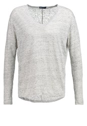 Gap Long Sleeved Top Light Heather Grey Light Grey