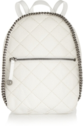 Stella Mccartney Quilted Mini Faux Brushed Leather Backpack