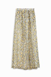 Paul And Joe Paisley Chiffon Maxi Skirt Yellow
