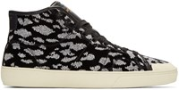 Saint Laurent Black Animal Print Sl 37 Sneakers