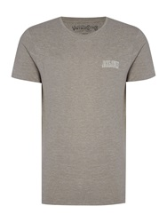 Jack And Jones Track And Field Small Logo T Shirt Light Grey Marl