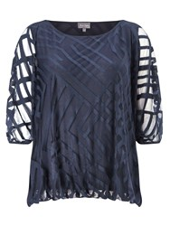 Phase Eight Eve Geo Burnout Top Blue