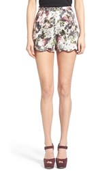 Women's Love Sadie Floral Print Scallop Hem Shorts