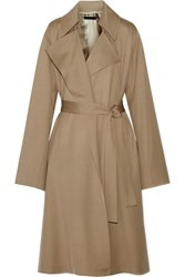 The Row Loreno Wool Gabardine Trench Coat Mushroom