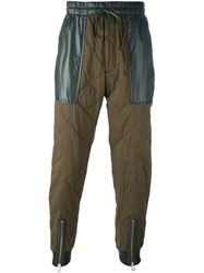 3.1 Phillip Lim Quilted Trousers Green
