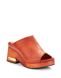 Free People Moon Clogs Red