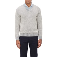 V Neck Sweater Gray