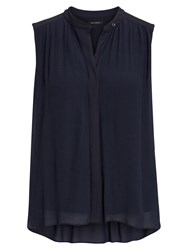 Marc O'polo Blouse Top In Pure Viscose Blue