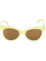 Norma Kamali Square Cat Eye Sunglasses Green