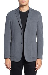 Vince Camuto Men's Slim Fit Stretch Knit Blazer Heather Charcoal Mesh
