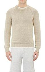 Massimo Alba Men's Chunky Crewneck Sweater Nude