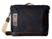 Will Leather Goods Mirror Lake Messenger Navy Messenger Bags