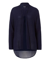 Olsen Mock Layer Cardigan Denim