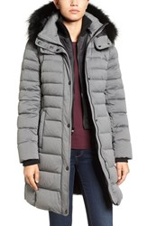 Andrew Marc New York Women's Quilted Down Jacket With Genuine Fox Fur Trim