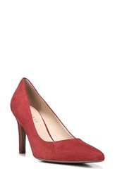 Franco Sarto Women's 'Amore' Pointy Toe Pump Red Suede