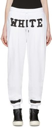 Off White White Spray Paint Lounge Pants