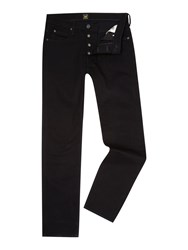 Lee Powell Dark Wash Low Rise Jeans Black