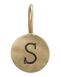 14K Yellow Gold Single Uppercase Initial Charm Heather Moore