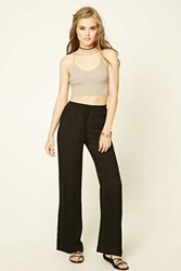 Forever 21 Crochet Trimmed Palazzo Pants