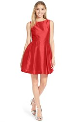 Junior Women's Soprano Bow Back Fit And Flare Dress Red