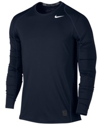 Nike Pro Cool Dri Fit Fitted Long Sleeve Shirt Obsidian